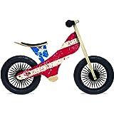 Kinderfeets Retro Wooden Balance Bike, USA Flag