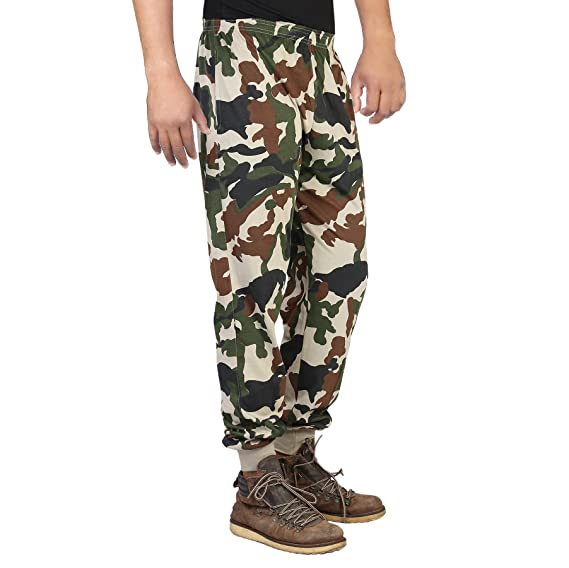 6bf1eb881f0 Finger s Men s Cotton Army Track Pant (Green-brown