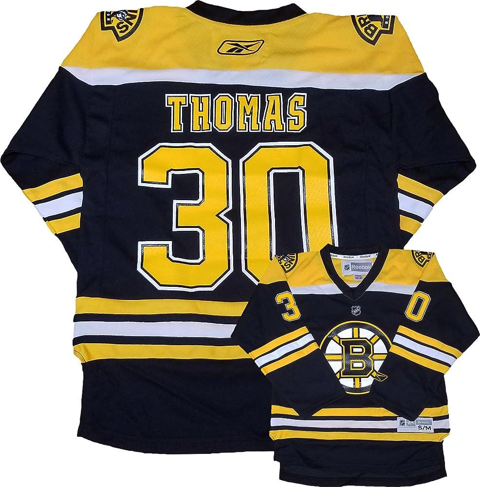 finest selection 18a91 f7a67 Amazon.com: Tim Thomas Boston Bruins Reebok Black Yellow ...
