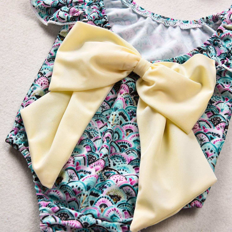 HINITINA Baby Swimwear Girls Swimming Costume Swimsuit One Piece Bikini Rainbow Fish Scale Bathing Suit