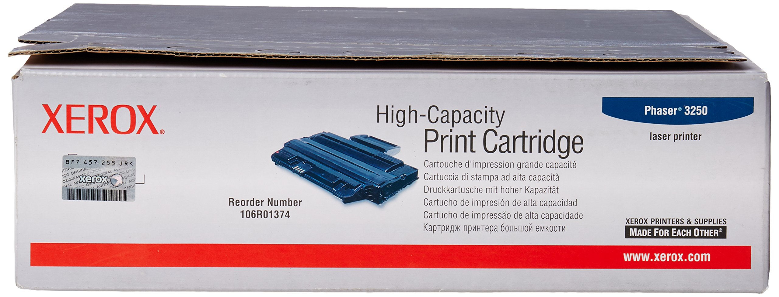 Genuine Xerox High Capacity Black Print Cartridge for the Phaser 3250, 106R01374