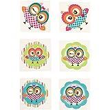 Owl Party Temporary Tattoos - 72 pcs