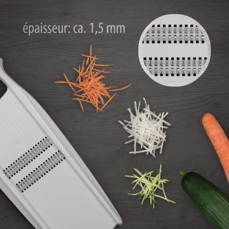 Original rallador Börner Roko PowerLine – Rallador de fruta y verduras para cortar tiras muy delgadas. El producto está elaborado por el fabricante.