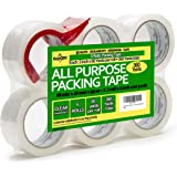 Namcovi Packing Tape, Shipping Tape- (6 Rolls) of Heavy Duty Packaging Tape. with Tape Dispenser Gun, Tape Pack is 360 Total