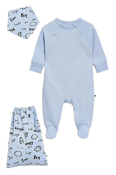 next Bebé-Niños Pijama Tipo Pelele con Cuello Redondo, Babero Y Bolsa (0