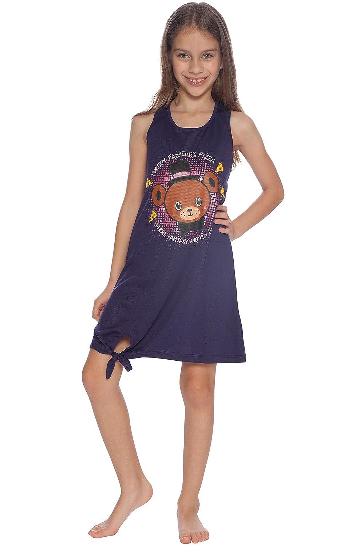 INTIMO Girls Big Five Nights Freddy and Chica Pajama Nightgown