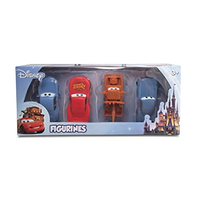 Beverly Hills Teddy Bear Company Disney Cars Themed 4 Pack Playset (Lightning McQueen, Mater, Finn McMissle, Sally): Toys & Games