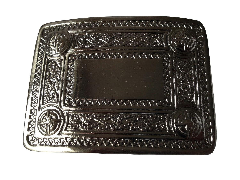 TARTAN TWEEDS Celtic Design Kilt Belt Buckle Antique
