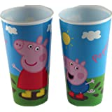 Set Of 2 Peppa Pig And George Large Plastic Tumbler Drinking Cups