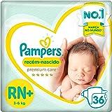 Fraldas Pampers Premium Care Recém Nascido Rn+ 36 Unidades, Pampers