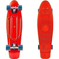 "Retrospec Quip Skateboard 22.5"" Classic Plastic Mini Cruiser Complete Skate Board w/ABEC 7 Bearings"