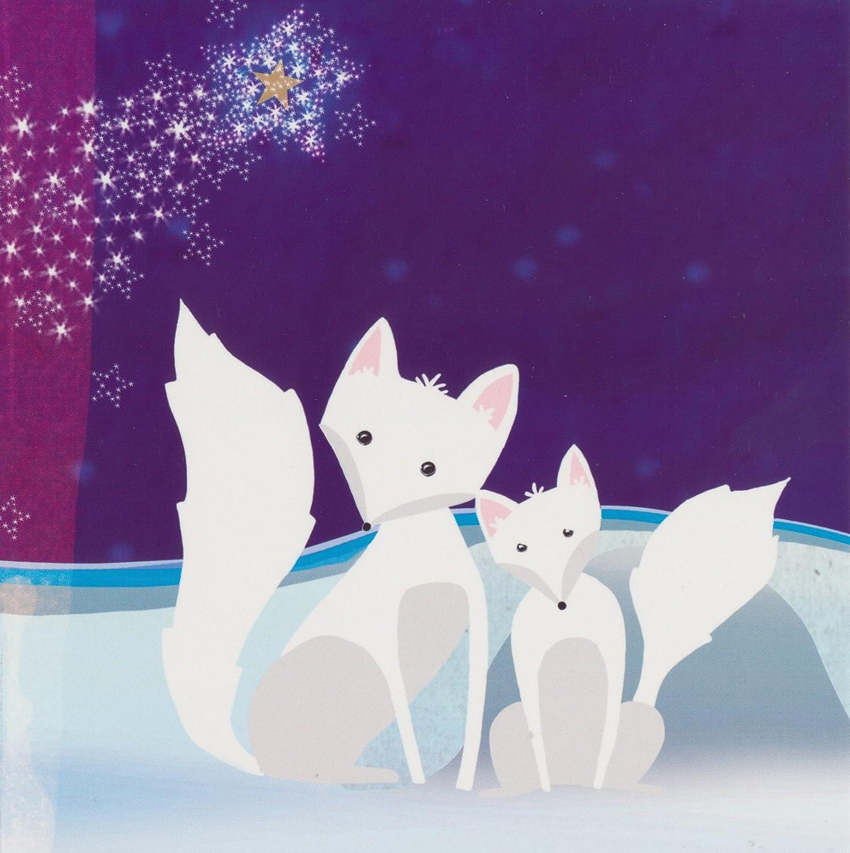 WWF Animal Charity Arctic Fox Christmas Cards (Pack of 10): Amazon ...