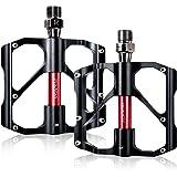 Fahrradpedale, Beauty Star MTB BMX legiertem aluminio Pedales Con ultraligera 155g plattformpedale con antideslizante Pedal para Mountain Bike, carreras, Ciudad Rueda (2unidades)