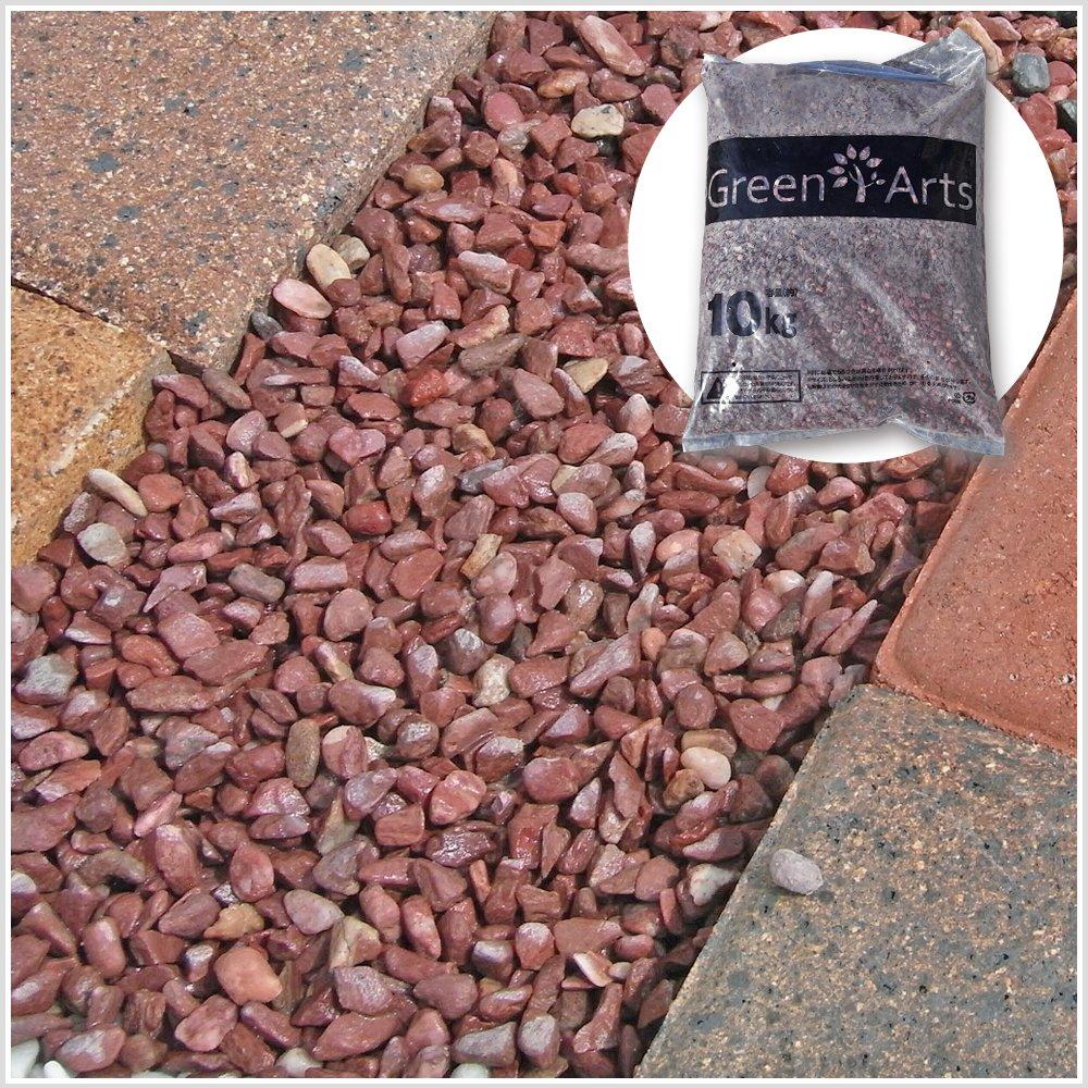 大理石の赤玉砂利 カエデ 約6~10mm 30kg