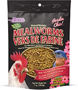 F.M. Brown's 7 oz. Garden Chic! Dried Mealworms for Wild Birds & Chickens