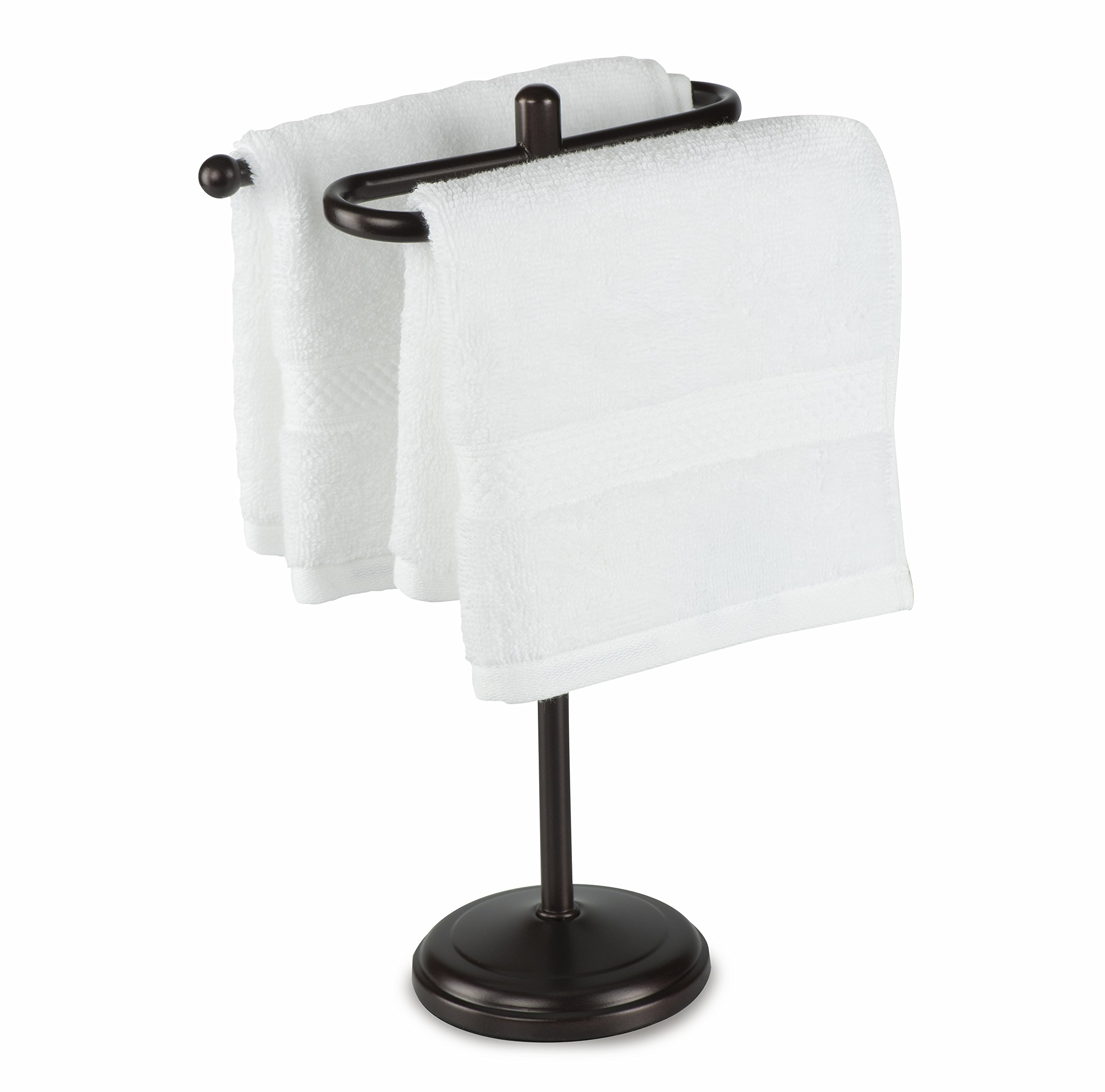 AMG and Enchante Accessories, Free Standing Fingertip Hand Towel Bar Holder Tree Rack, TT100006 ORB, Oil Rubbed Bronze