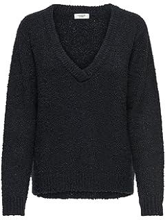 JACQUELINE de YONG Damen Pullover Strickpullover V Ausschnitt JDY ... e8b5143848
