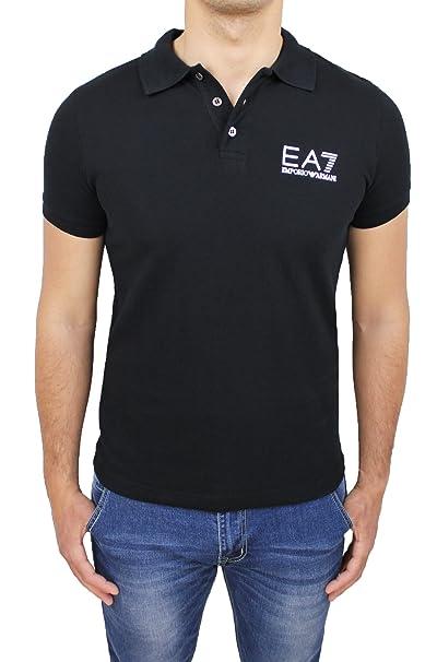 Uomo Armani Maniche Shirt Corte 000106p261 Art Nero Ea7 Maglia Polo uikXPZ
