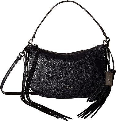 25caa0a3e4 COACH Women s Fringe Chelsea Crossbody DK Navy Cross Body  Handbags   Amazon.com