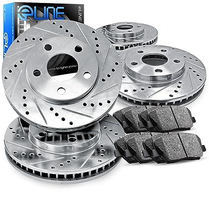 Amazoncom Acura TL Full Kit ELine Drilled Slotted Brake - Acura tl brake pads