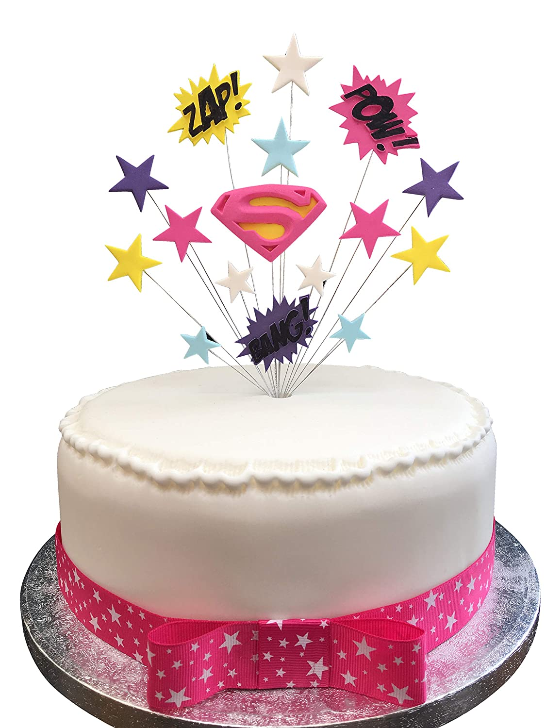 Awesome Karens Cake Toppers Super Girl Superhero Birthday Topper Suitable Funny Birthday Cards Online Aeocydamsfinfo