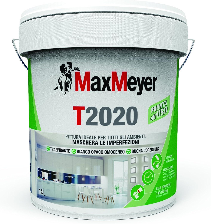 Maxmeyer Pittura Per Interni Traspirante T2020 Bianco 14 L 10 12 Mq Litro Amazon It Fai Da Te