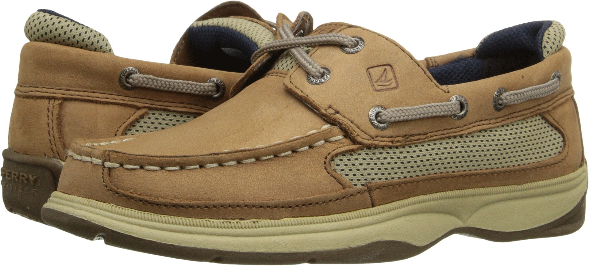 Sperry Top-Sider Kids Boy's Lanyard (Little Kid/Big Kid) Dark Tan/Navy Boat Shoe 7 Big Kid M by Sperry