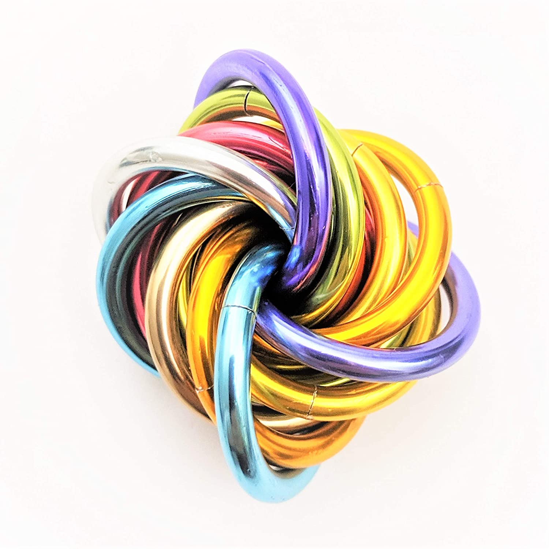 Mobii Unicorn Rainbow: Small Fidget Ball Stress Mobius Toy, Restless Hand Office, School, Anxiety