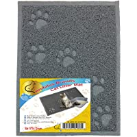 ANDALUS Cat Litter Trap Mat   Small/Large/X-Large Size   Phthalate & BPA Free   Easy to Clean (Small, Gray)