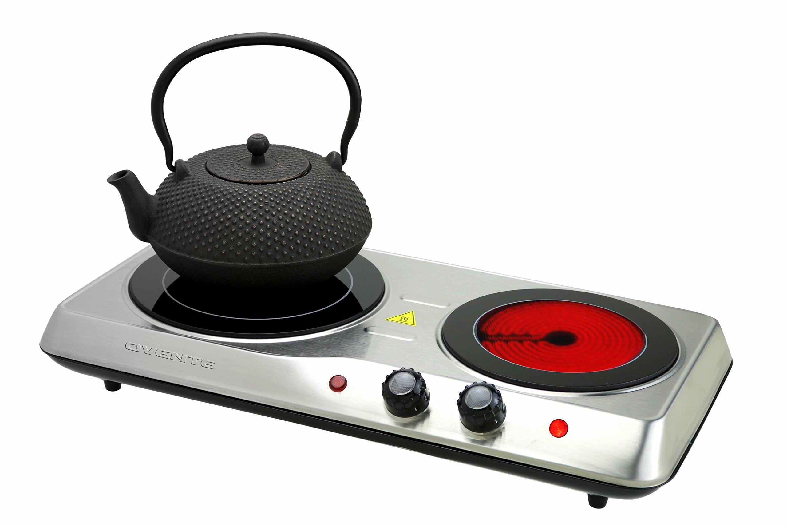 2 Two Electric Cooktop Cooking Stove Portable Ceramic Double Burner Hot  Plate