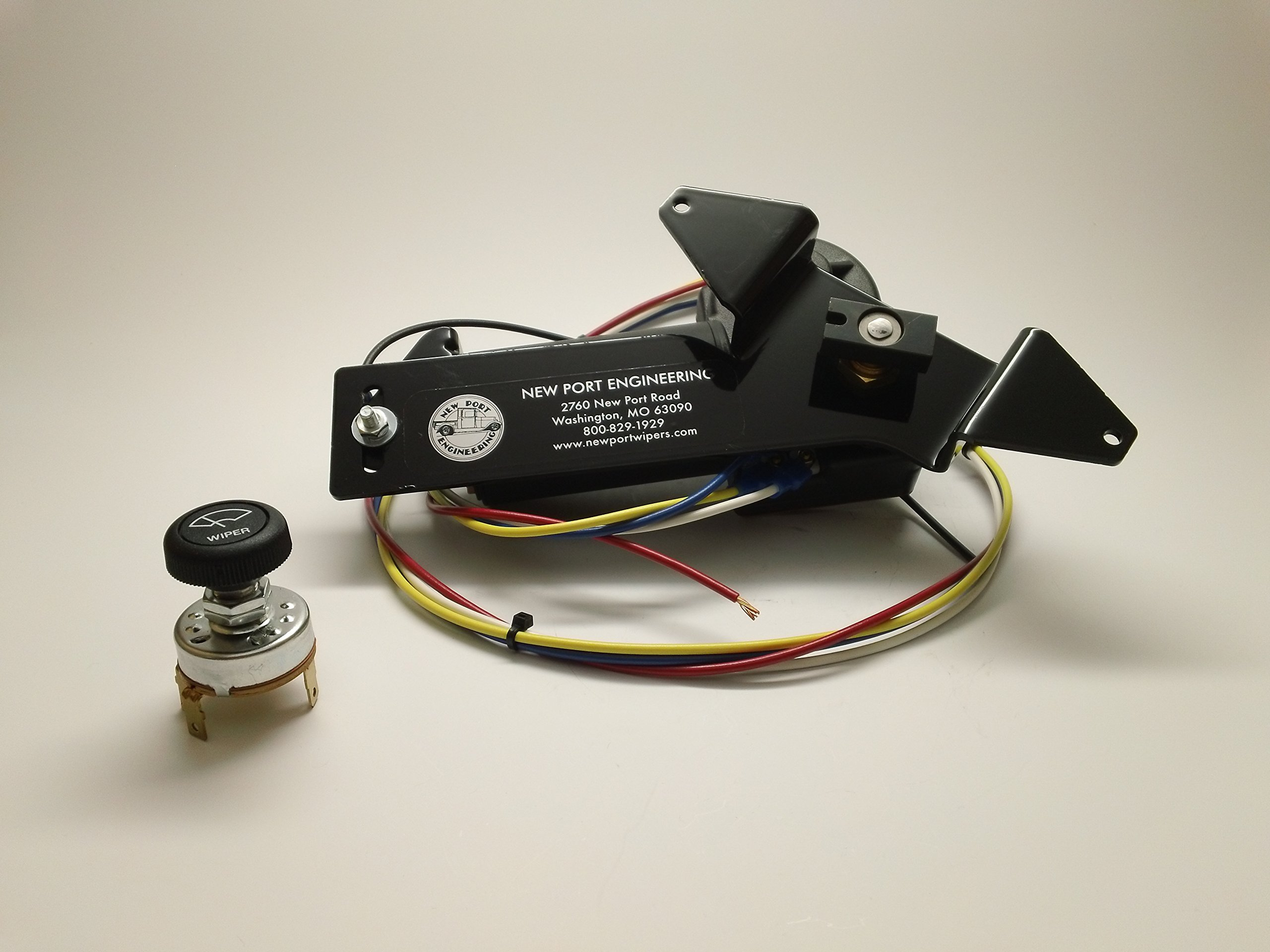 Chevy Car Wiper Motor 1953 1954 & 1957 - NEW PORT ENGINEERING NE5354/57CP by NEW PORT ENGINEERING