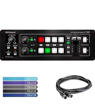 Roland V-1HD - Conmutador de vídeo con Bolsa de Transporte CB-BV1 para V-1HD/V-1SDI, Hosa MID-305BK 5 ft Midi Cable y 5 Bridas: Amazon.es: Electrónica