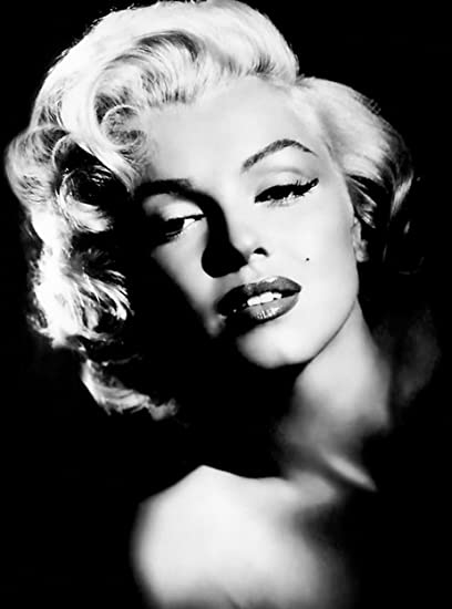 Large Marilyn Monroe Canvas Art Print Black And White 30 X 20