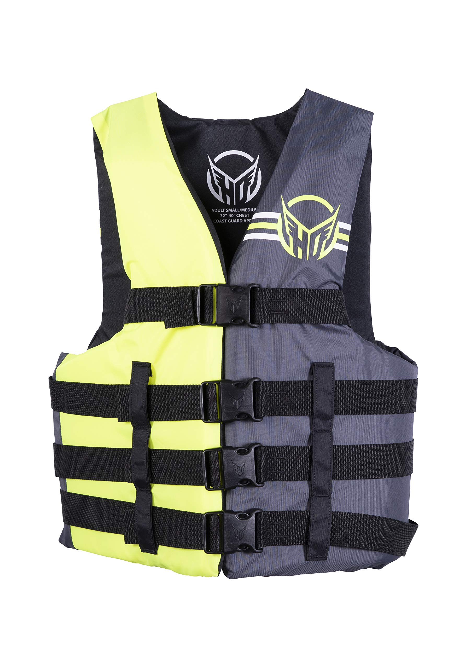 HO Sports Mens Universal Ski Wakeboard Wakesurf Vest Jacket Yellow/Ash SXL by HO