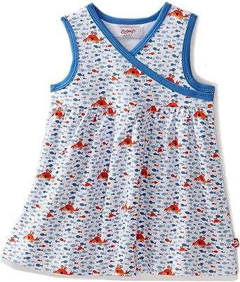 Zutano Baby Girls Crabby Short Sleeve Dress