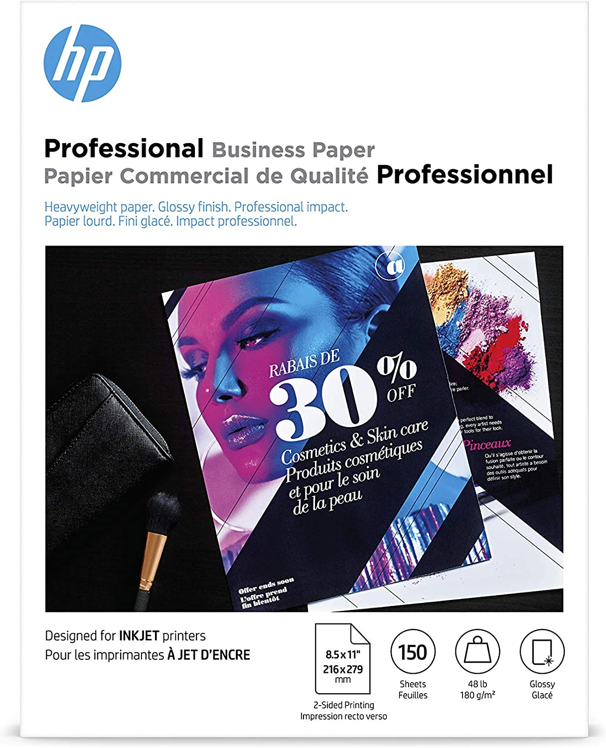 HP Business Inkjet Paper, Glossy, 150 Sheets, 8.5 x 11 Inch