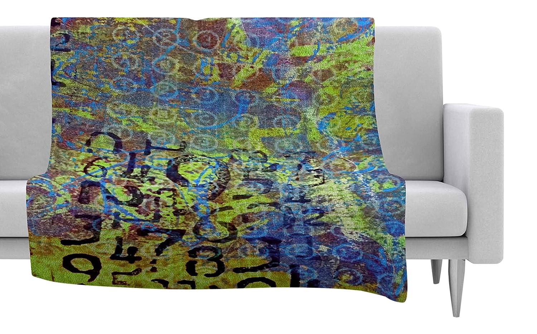 80 X 60 80 by 60-Inch Kess InHouse Alyzen Moonshadow Discover 5 Blue Green Fleece Throw Blanket