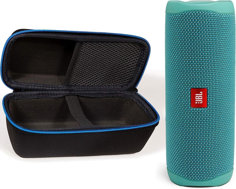 JBL Flip 5 Waterproof Portable Wireless Bluetooth Speaker Bundle with divvi! Protective Hardshell Case - Teal