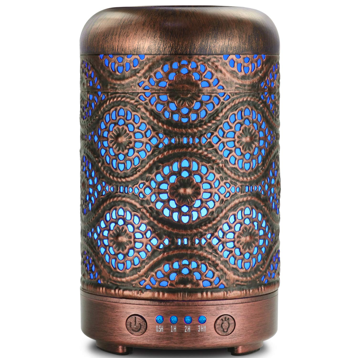 Ultrasonic Cool Mist Essential Oil Diffuser, ARVIDSSON Metal Aromatherapy Diffusers for Essential Oils, Cool Mist Humidifier with 7 Colors LED Night Light for Home, Office by ARVIDSSON