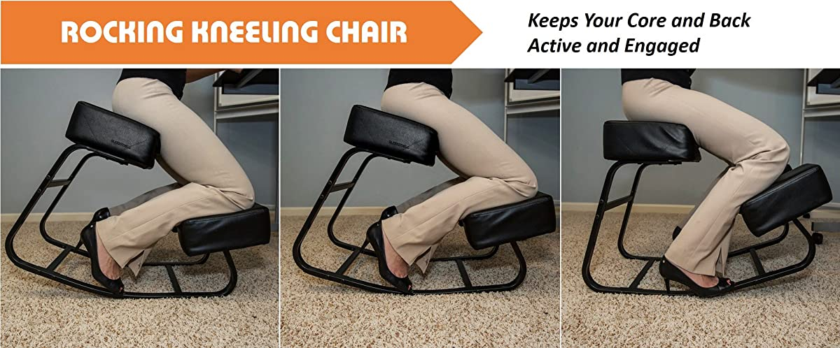 """Sleekform Rocking Kneel Chair for Perfect Posture 