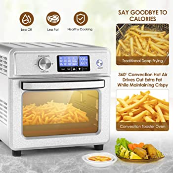Icetek 21QT 1800W Air Fryer Toaster Oven with 16 Preset Functions