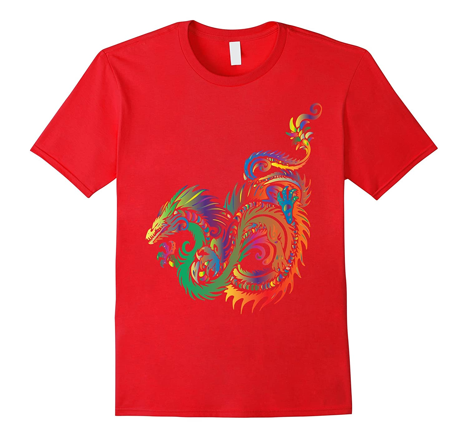 Tribal Sea Dragon Mythical Monster Creature Colorful T-Shirt-PL