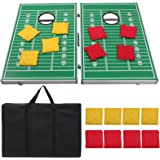 F2C Portable Foldable Aluminum Framed Bean Bag CornHole Toss Game Set Boards 3FT 2FT with 8 Bean Bags and Carrying Case