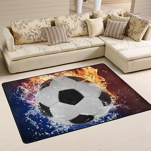 naanle balón de fútbol antideslizante alfombra para Living comedor ...