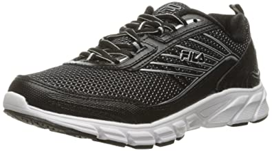 Fila Womens Forward 3 Running Shoe BlackBlackMetallic Silver
