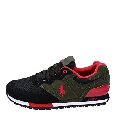 cozy fresh get cheap picked up Polo Sport Ralph Lauren Slaton Pony Trainers Black 9 UK: Amazon.co ...