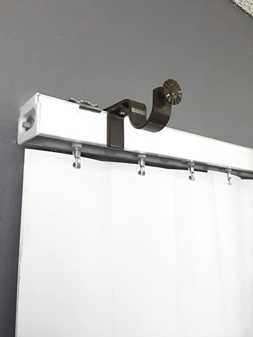 Curtain brackets over blinds curtain menzilperde net for Hardware for hanging curtains