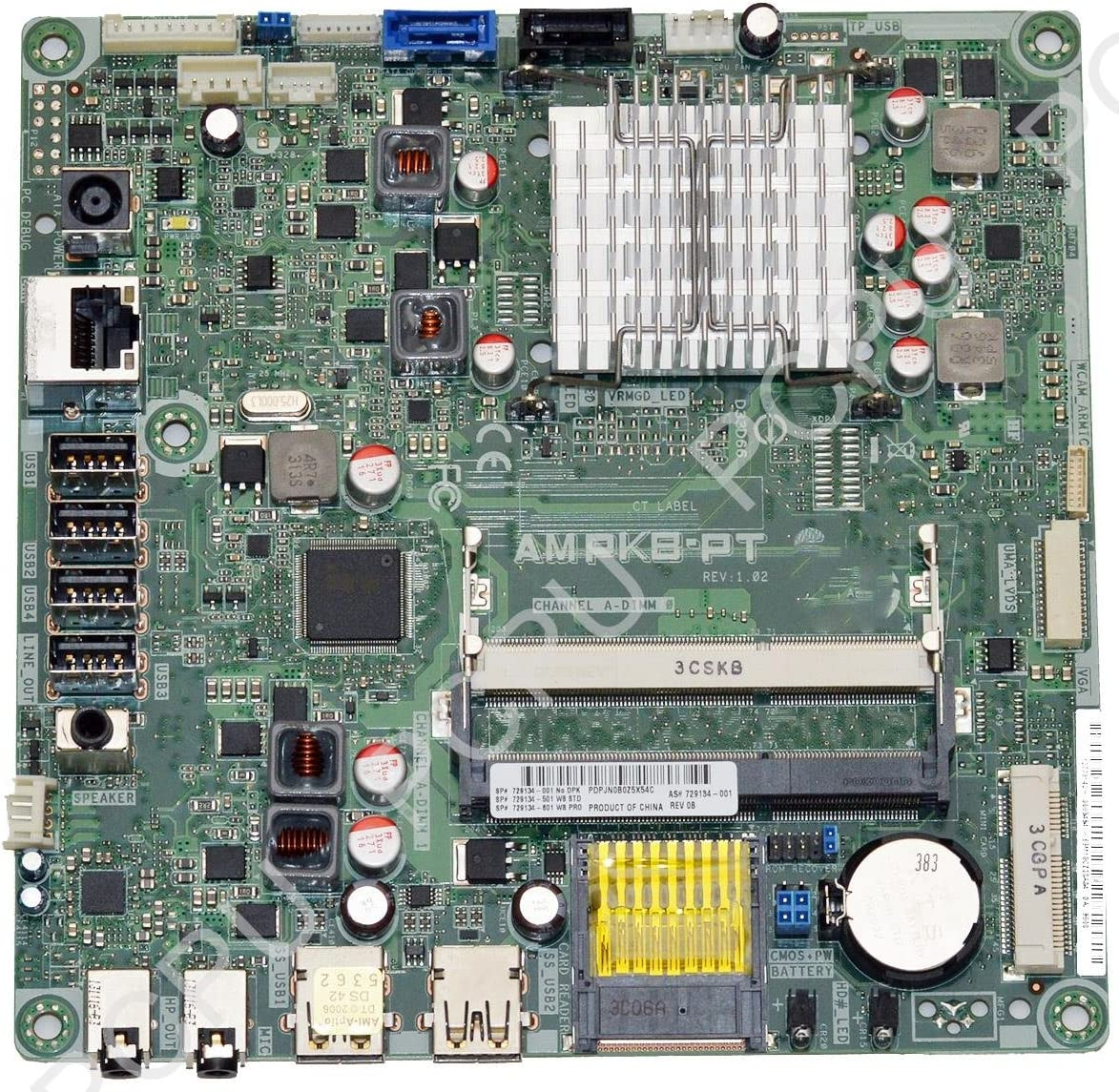 HP TS 19 Daisy Kabini AIO Motherboard AMD E1-2500 1.4GHz CPU 729134-001