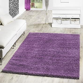 Tu0026T Design Shaggy Teppich Hochflor Langflor Teppiche Wohnzimmer Preishammer  Versch. Farben, Farbe:lila
