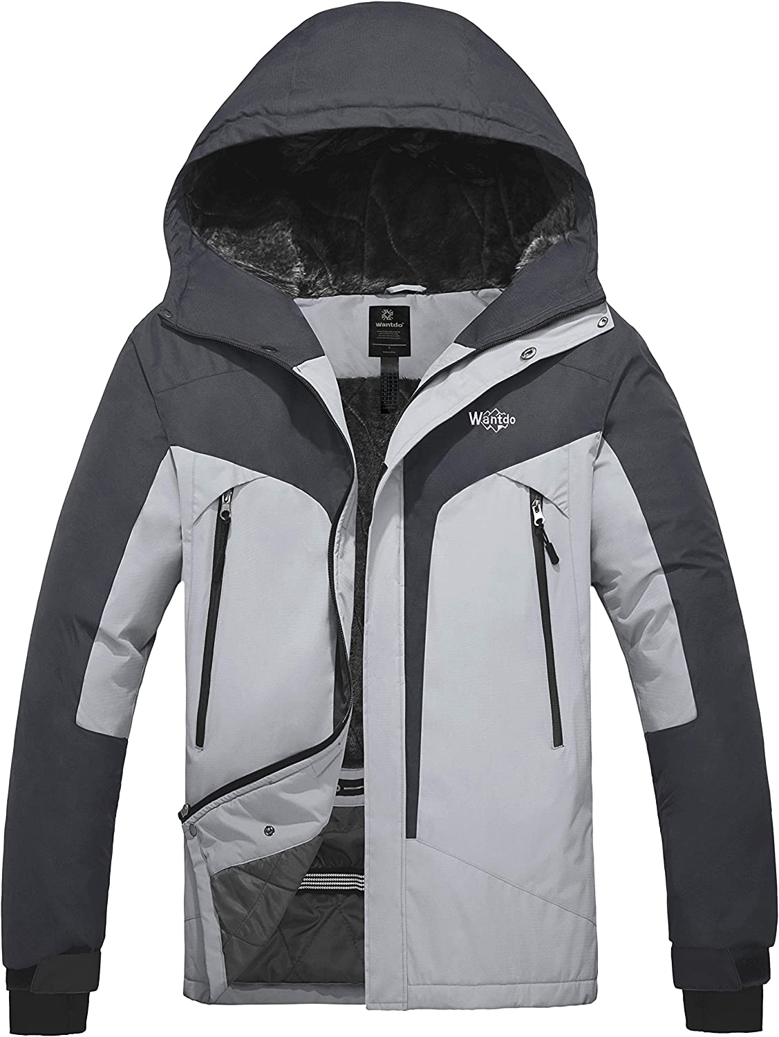 Wantdo Men's Waterproof Snowboard Jacket Windproof Mountain Winter Ski Snow Coat
